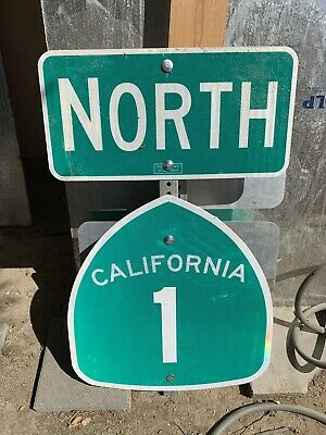 Highway 1 Sign And North Sign Aurhentic Interstate PCH Sign