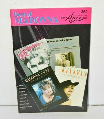 Best of Madonna Hal Leonard Easy ABC Music For All Keyboards 362