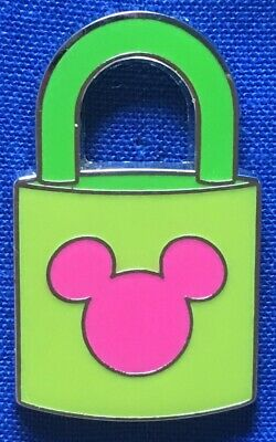 MICKEY MOUSE Green Lock With Pink Icon 2010 Disney Pin PinPics 78585