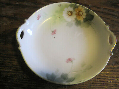 VTG NIPPON Hand Painted YELLOW/WHITE DAISY Porcelain BUTTER PAT