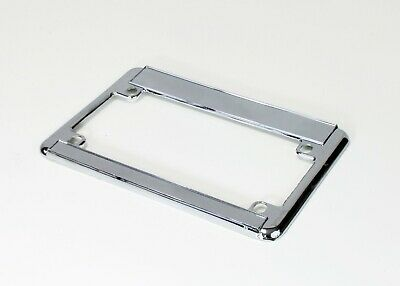 2X Chrome Metal License Plate Tag Frame for Motorcycle/Scooter/Chopper/Bike