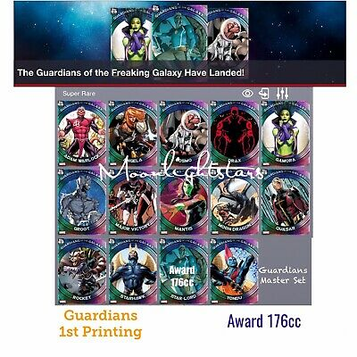 Topps Marvel Collect - GUARDIANS of The GALAXY 1st Printing Complete Set + Award