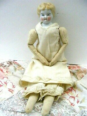 """Antique China Doll 12"""" Unusual Blond Mark Germany 2"""