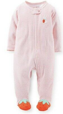 Carters Baby Girl Sleep Suit with Strawberry feet & strawberry bottom - Size 3m