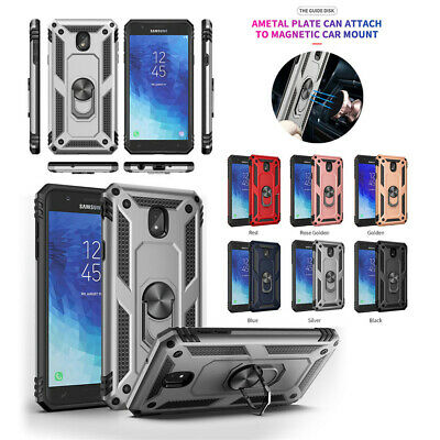 For Samsung Galaxy J2 J3 J4 Plus J6 J7 Magnetic Military Armor Stand Ring Case