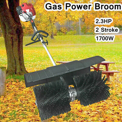 52cc HAND HELD WALK BEHIND SNOW SWEEPER BROOM TURF LAWNS DRIVEWAY CLEANING SALE