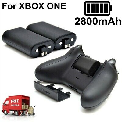 2x 2800mAh Rechargeable Battery With Cbale For XBOX ONE Wireless Controller New