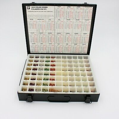 ILCO / UNICAN >005 Color Coded PIN KIT METAL Container # 796-00-8X Never Used