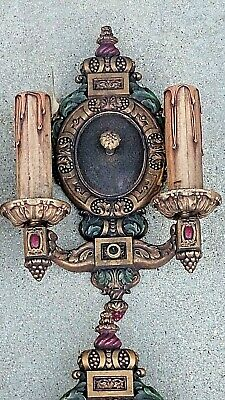 Edwardian Antique Tudor Ornate light fixture Wall Sconce set of 4