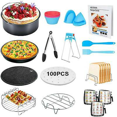 Multi-Purpose 13Pc Set Air Fryer Frying Cage Dish Baking Pizza Tray Accessories
