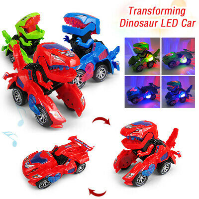 Transforming Dinosaur LED Car | T-Rex Toys With Light Sound | Electric toy |