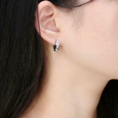 Gold Silver Plated Punk Simple Hoop Ear Stud Women Ladies Round Earrings LA
