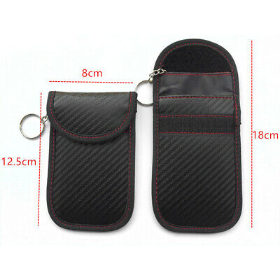Black Lock Car Key Signal Blocker Keyless Entry Anti-Theft Fob Pouch Faraday Bag