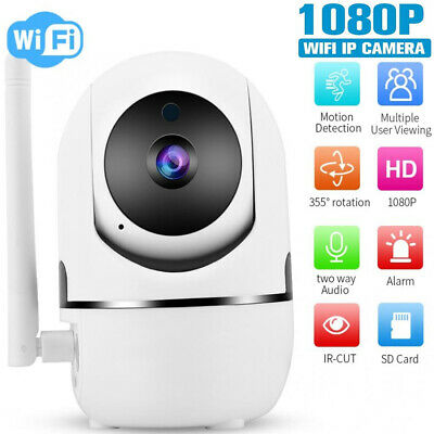 Wireless Telecamera HD 1080P WiFi IP Camera MOTORIZZATA RETE INTERNET 360 PTZ IR