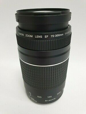 Canon Telephoto Zoom Lens for Canon EF - 75-300mm - F/4.0-5.6 - Black