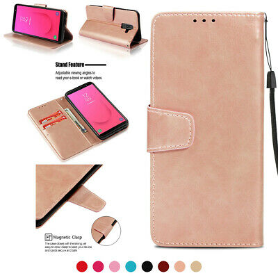 Fr Samsung Galaxy J2 J3 A5 A6 A7  Magnetic Retro Leather Card Wallet Case Cover