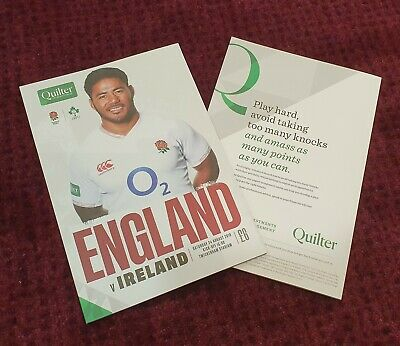 ENGLAND vs IRELAND QUILTER INTERNATIONALS 2019 Rugby Union Programme 24/08/19!