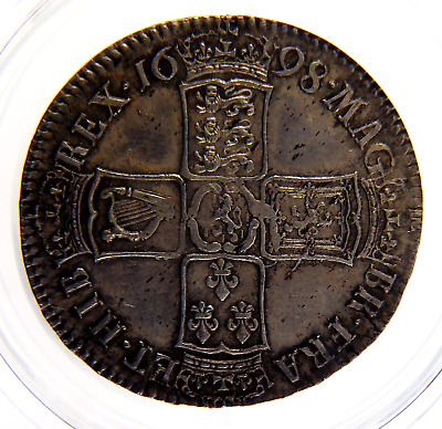 1698 AEF William III Silver Half Crown Coin CGS 55, AU55  ☆☆☆ Spink £1350 EF ☆☆☆