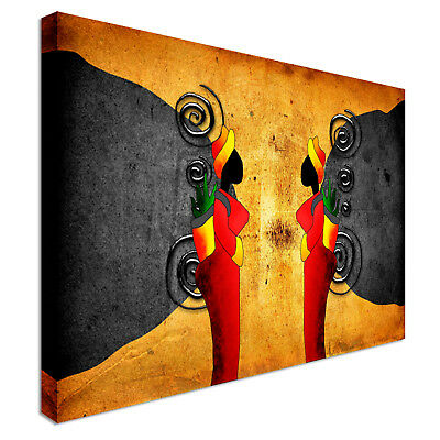 Africa retro vintage style Canvas Print Crafted In London - Quality Assured