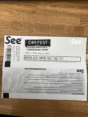 Carfest south Weekend with Camping 17 + Adult ticket