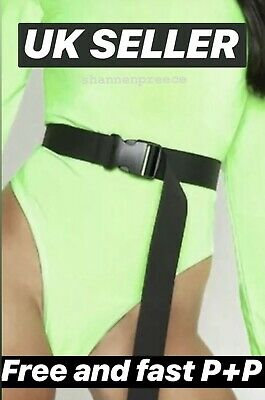 Black Canvas Fashion Fully Adjustable Plastic Women's Buckle Belt