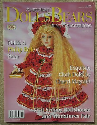 AUSTRALIAN DOLLS BEARS & COLLECTABLES Vol 5 No 4 Incl. PATTERN SHEET