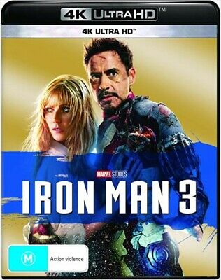 Iron Man 3 UHD : NEW 4K ULTRA HD Blu-Ray