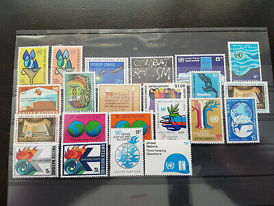 [906] United Nations New York lot UN NY all different MNH