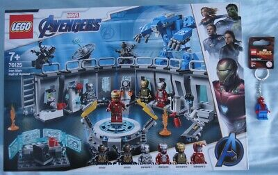 Lego Marvel 76125 Iron Man Hall of Armour and 850507 Spiderman Keying - SEALED