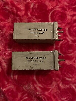 Western Electric Capacitor / Cond. Set of 2