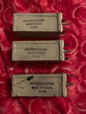 Western Electric Capacitor/ Cond. Set of 3