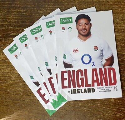 England v Ireland, World Cup 2019 Warm Up Match Program