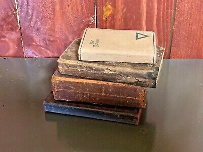 Lot of 4 Antique Books Late 1800's Early 1900's - Christian Bible (B)