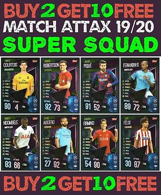 Match Attax 2019/20 19/20 Super Squad & Tactic Cards - Champions League Europa