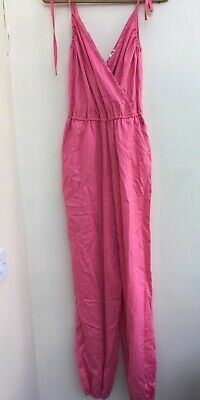 Vintage Pink Jumpsuit - Made In England - Vintage Size 10 - Excellent Condition