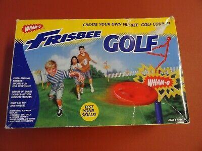 1998 Wham-O Frisbee Disc Golf Course Set Double Action Targets In Original Box