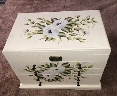 Thomas Pacconi Classics Museum Series Large Jewelry Box w/ Hand Painted Flowers