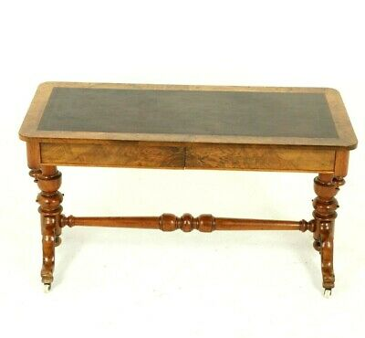 Antique Library Table, Writing Table, Walnut, Victorian, Scotland 1870, B1546