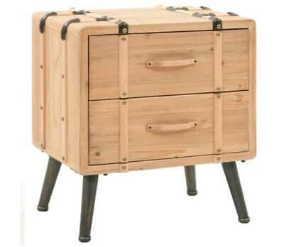 Rustic Retro Bedside Table Leg Cube Suitcase Style Wooden Vintage Drawer Cabinet