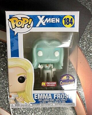 Funko POP Emma Frost Diamond POP X-Men 184 NEW Halloween ComicFest Exc Nib Mint