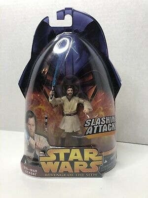 "STAR WARS Revenge of the Sith #1 OBI-WAN KENOBI Slashing Lightsaber 3.75"" Figure"