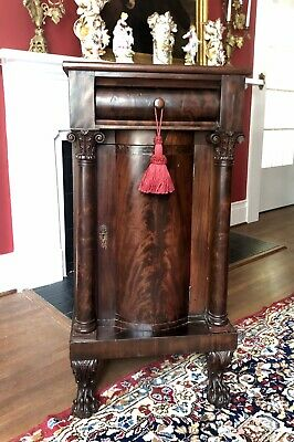RARE American Classical Flame Mahogany Side Cabinet