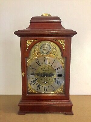 Vintage Triple Chime 9 Rods Bracket Clock.