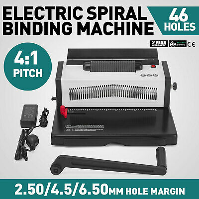 Electric Steel Coil Binding Machine Comb Puncher A4 A5 Papers Office Turning
