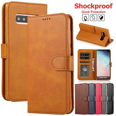 For Samsung Galaxy S9 Plus Case S10 5G S8 Note 9 S6 S7 Leather Wallet Flip Cover