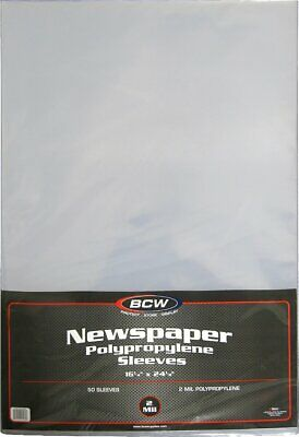 15 BCW 11.75x13.25x7mm Newspaper Hard Plastic Topload Holders rigid protectors