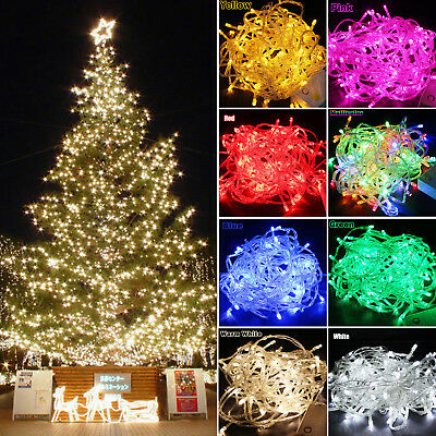100-600LED String Fairy Lights Party Xmas Christmas Tree Festival Outdoor Decor