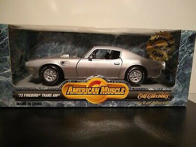 1973 Pontiac Trans Am Silver 1/18Th American Muscle Very Rare!