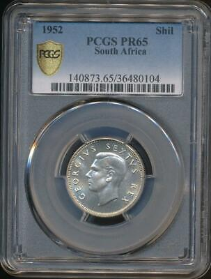 South Africa, 1952 1 Shilling, George VI (Silver) - PCGS PR65 (Proof)