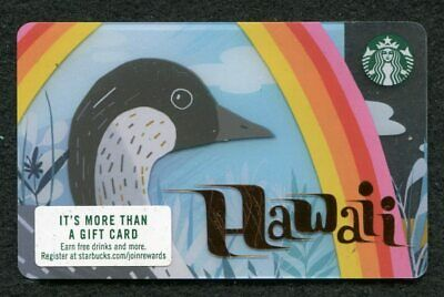 Starbucks 2019 Hawaii Gift Card with Rainbow Limited Edition (NEW)